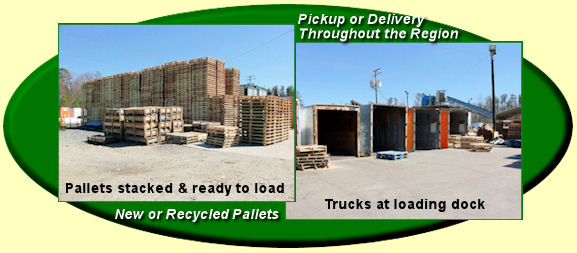 Direct Wood Products of Virginia can provide national pallet and industrial recycling services through affiliates.
